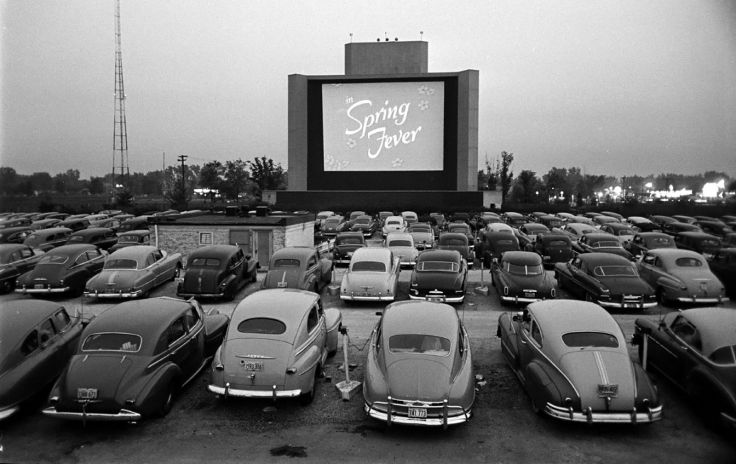 Drive-in theater-inkbluesky